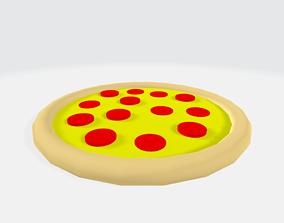 3D asset Low-Poly Cartoon Pizza lunch