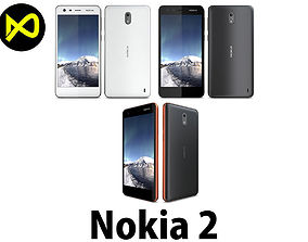 3D Nokia 2 All Colors