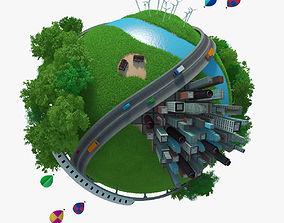 3D Planet City 03