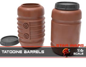 Star Wars Tantooine Barrels 1-6 scale 3D printable model