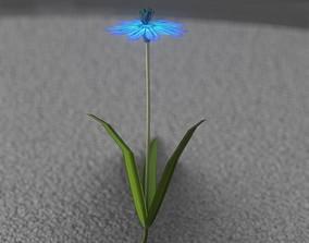 3D asset Blue Flower - Verion 4 - Object 19