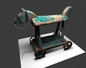 3D model Wheeled Toy Horse