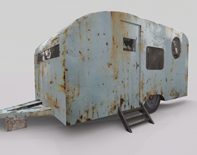 Old Rustic Trailer 3D