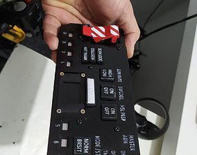 3D printable F-14 ACM panel with electronics