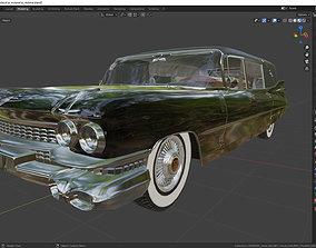3D model Cadillac Hearse Victoria SS 1959
