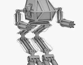 sci-fi Robot 02 Mech Warrior 3D PRINT