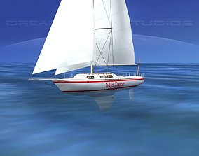 30 Foot Cutter Rigged Sloop V14 3D