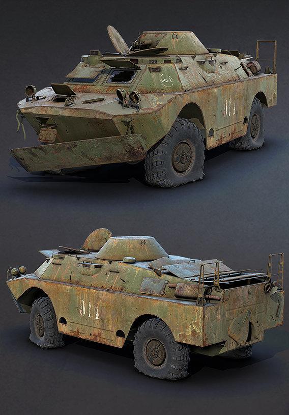 BRDM-2 Rusty Game Ready