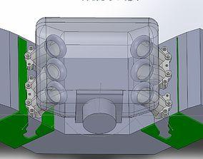 3D Audi V6 AFC AAH Custom engine intake trumpet
