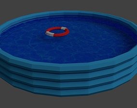 3D asset Low Poly Swimming Pool