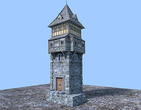 3D medieval watch tower