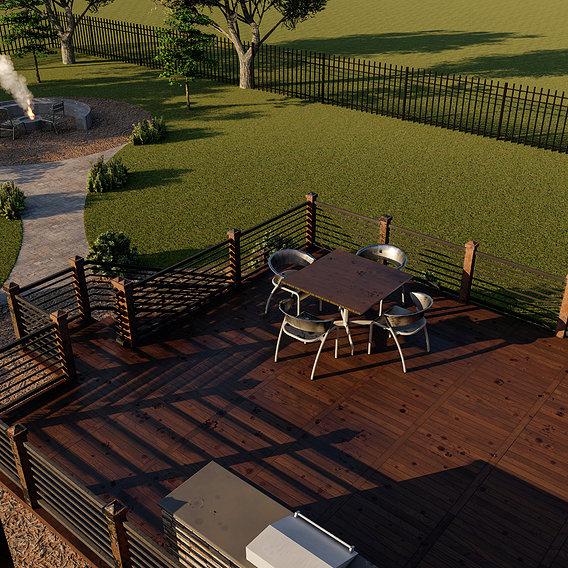 NOrth American house backyard architecture behaviour