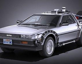 3D DeLorean DMC-12 Back To The Future episode 1
