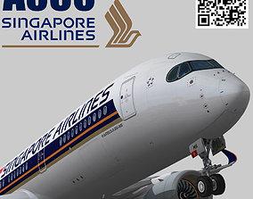 3D model Airbus A350-900 XWB Singapore Airlines