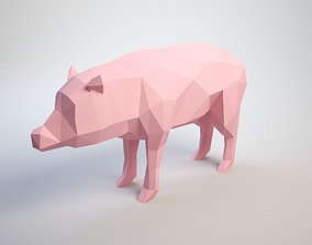 lowpoly Pig 3D print model