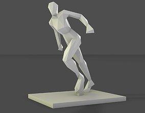 3D print model statue women running stance