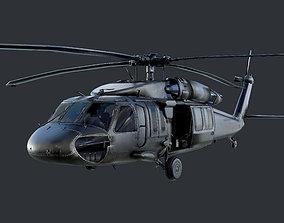 GAME READY Sikorsky UH60 Black Hawk Helicopter 3D model