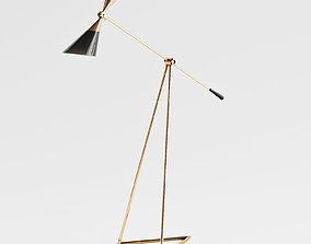 John Richard Mid Century Floor Lamp 3D
