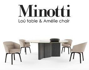 Lou table and Amelie Chiar 3D model