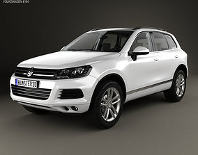 3D model Volkswagen Touareg with HQ interior 2010