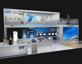 3D model Exhibition stand 12x12mtr 3sides open
