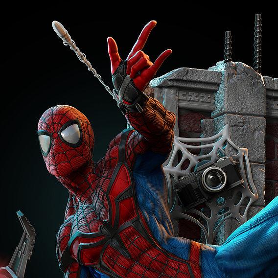 Spiderman 1/4 Statue