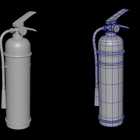 Fire Extinguisher - High Poly Modeling