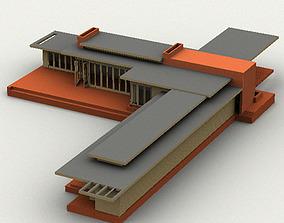 Usonian House 3D model