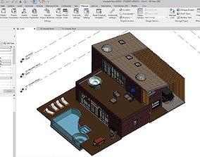 BIM Brick Villa - Original Design 3D model