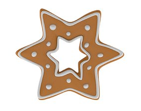 Christmas Biscuit 02 3D model