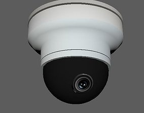 3D Dome Security Camera low poly