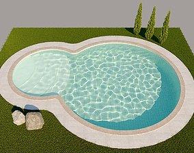 garden pool 3D