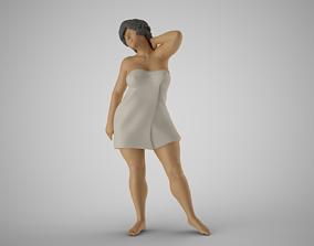 3D printable model Woman Before Shower