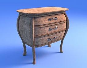 3D model Art Nouveau Dresser
