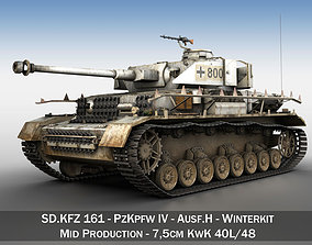 3D model PzKpfw IV - Panzer 4 - Ausf H - Winter