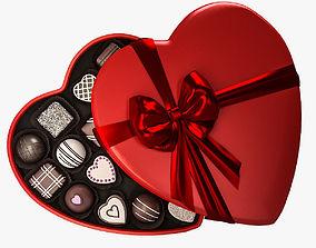 3D model Candy Heart Box