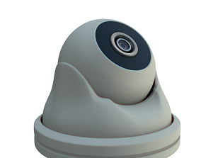 Security Camera 3D model rigged