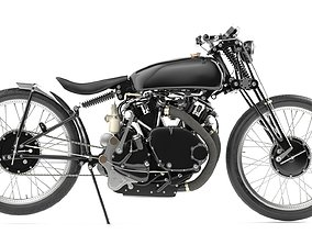 3D vintagebike Jeff Decker 1952 Vincent Black Lightning