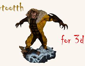 Marvels XMen Sabretooth 3D Statue wolverine
