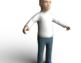 3D model Boy low-poly