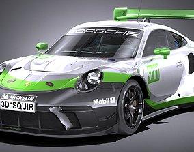 3D asset Porsche 911 GT3R 2019 lowpoly
