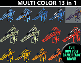 3D PBR Quayside Container Crane - Multi Color Pack