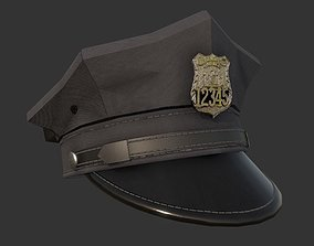 3D model Police Officer Hat Uniform