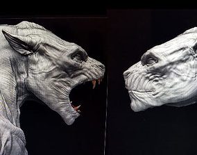 Lycan Head bust open and closed mouth 3D