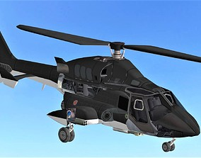 FLY Game-Ready 05 - Helicopter 3D model