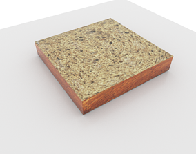 Toast bread 3D model VR / AR ready