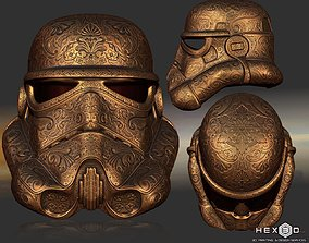 3D print model Deluxe Carved Trooper Helmet