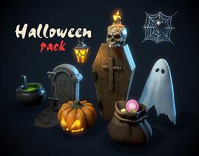 Halloween pack 3D asset VR / AR ready