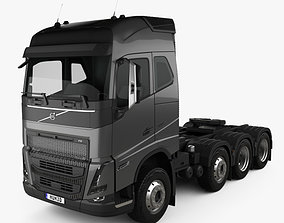 Volvo FH Globetrotter Cab Tractor Truck 4-axle 2020 3D