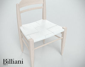 Billiani Vincent VG side chair white 3D model